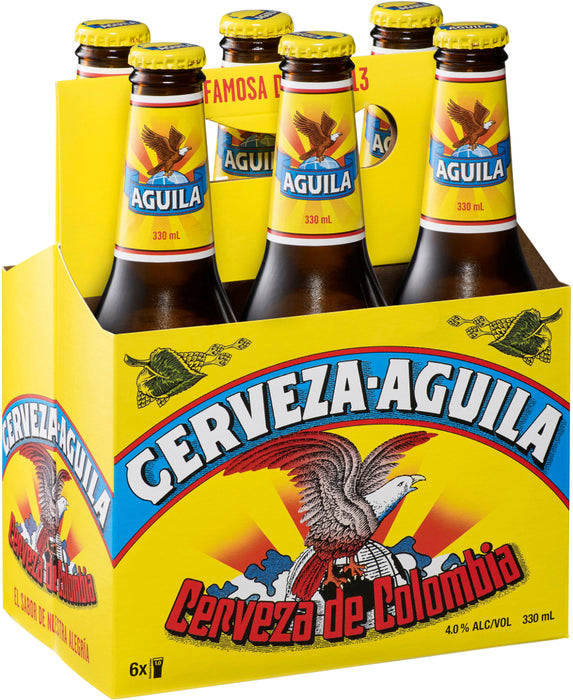 Cerveza-Aguila, Colombian Beer Bottles, 24 x 225 ml
