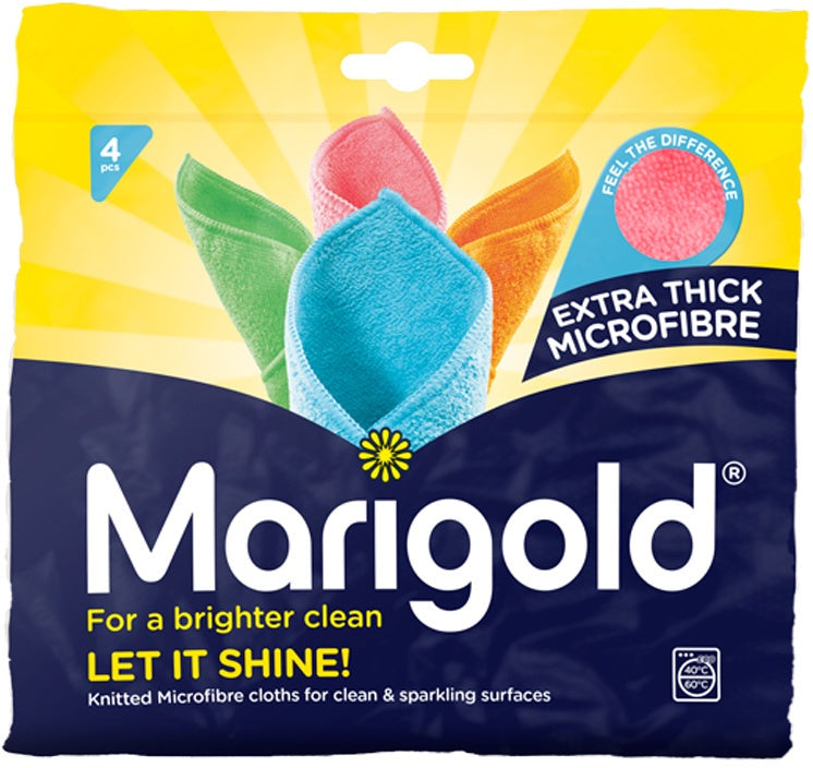 Marigold Extra Thick Microfibre Cloths Value Pack, 4 ct
