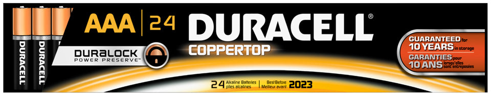 Duracell Coppertop AAA Alkaline Batteries, 24 ct