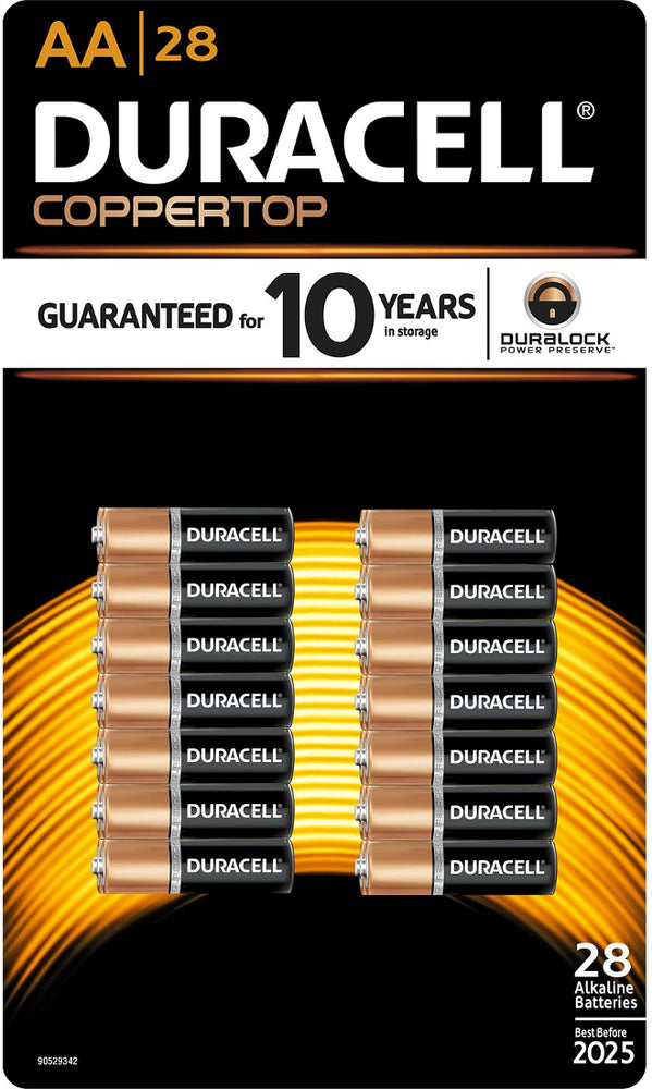 Duracell Coppertop Alkaline AA Batteries, 28 ct