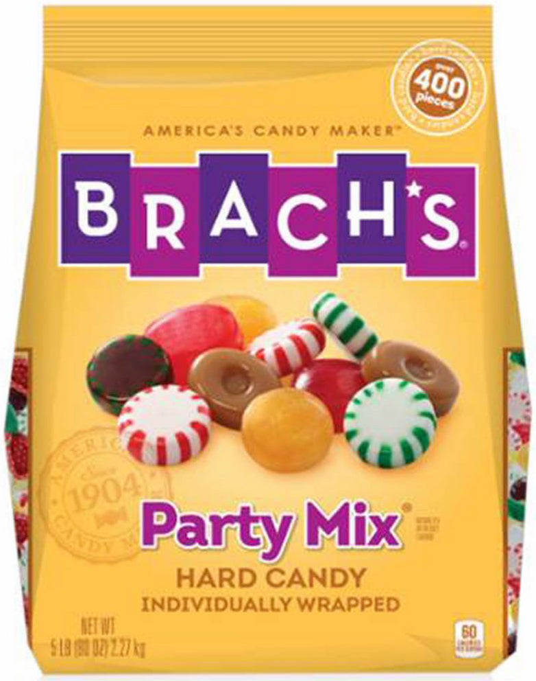 Brachs Party Mix Hard Candy, Individually Wrapped, 5 lbs