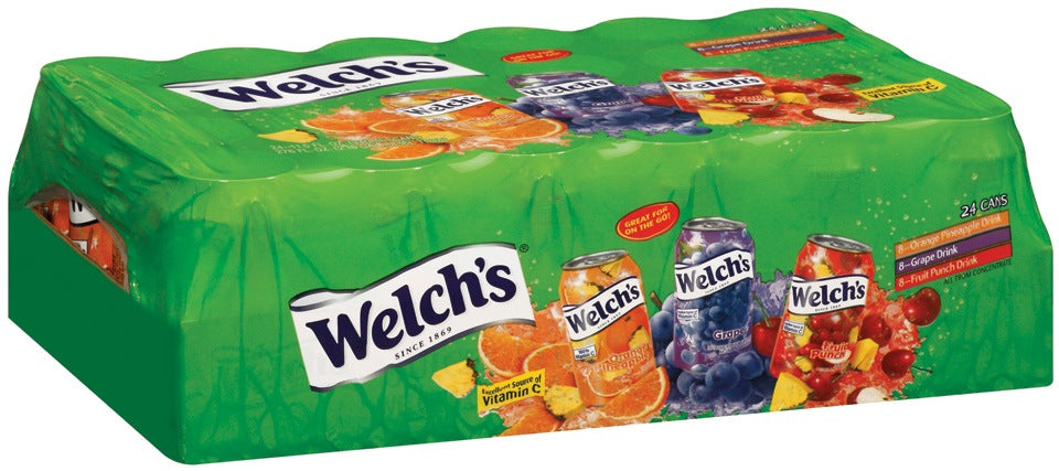 Welch's 100% Juice Variety Cans, 24 x 11.5 oz