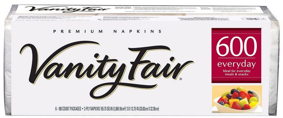 Vanity Fair Premium Everyday Napkins, 2-ply, 600 ct