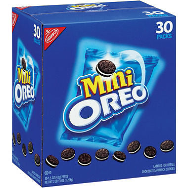 Nabisco Mini Oreo Chocolate Sandwich Cookies, 30 packs