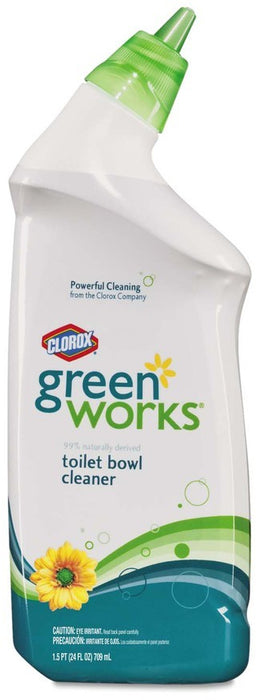 Clorox Green Works Toilet Bowl Cleaner, Powerful Cleaning, 24 oz