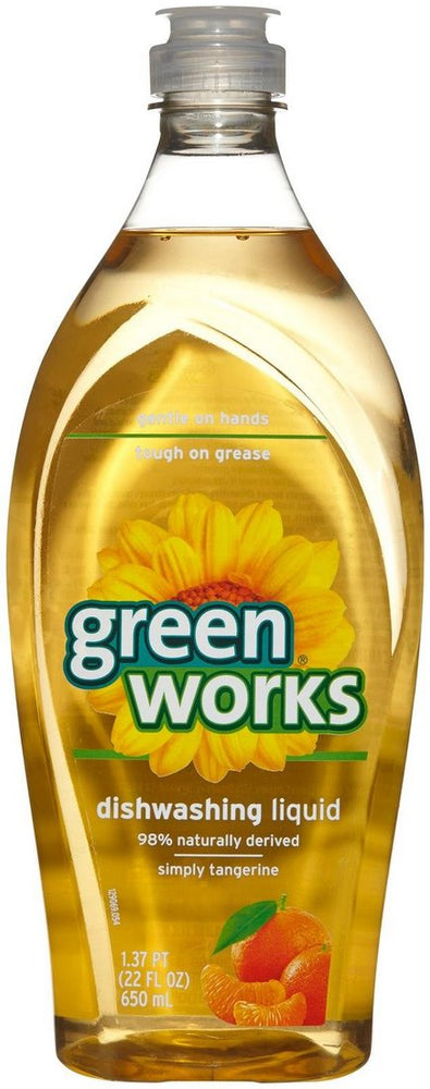 Green Works Dishwashing Liquid, Simply Tangerine, 22 oz
