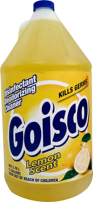Goisco Disinfectant Deodorizing Cleaner, Lemon Scent, 1 gal