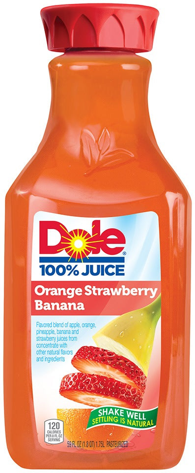 Dole 100% Juice, Orange Strawberry Banana, 1.75 L