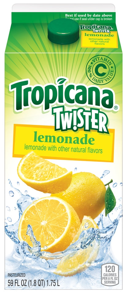 Tropicana Twister Lemonade, Vitamin C, 1.75 L