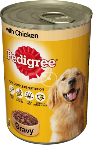 Pedigree Gravy with Chicken Dog Food, 100% Complete Nutrition, 400 gr