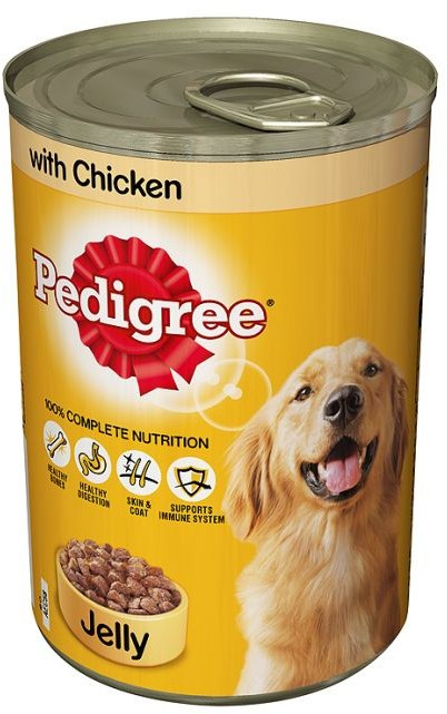 Pedigree Dog Tin Meat in Jelly with Chicken, 385 gr