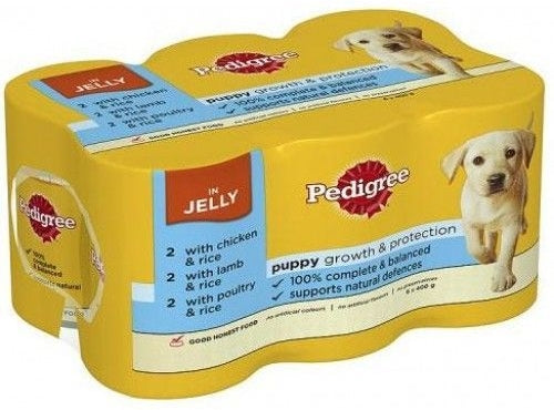 Pedigree Puppy Growth & Protection Dog Food Variety Pack, 100% Complete Nutrition, 6 x 400 gr