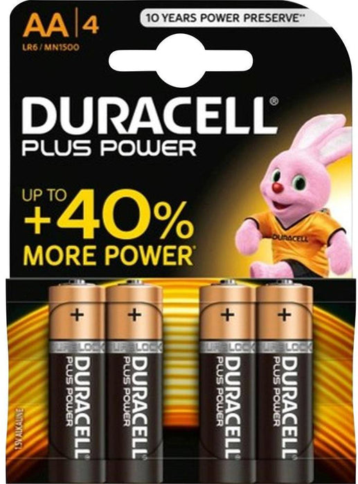 Duracell Plus Power AA Batteries, 4 ct
