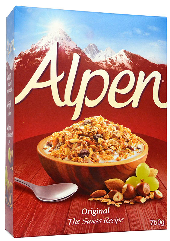 Alpen Original Muesli, The Swiss Recipe, 750 gr