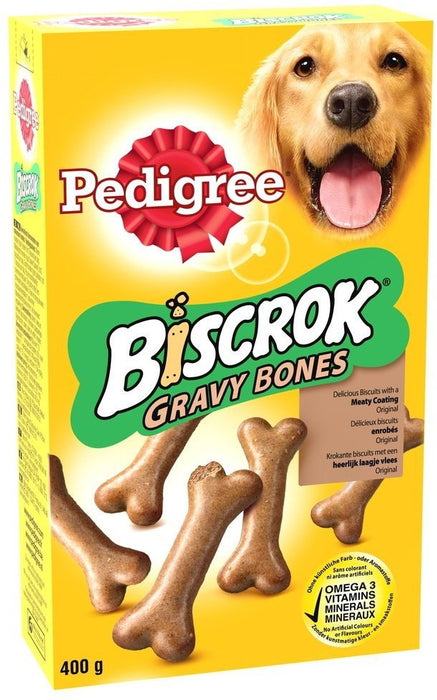 Pedigree Biscrock Gravy Bones Dog Treats, Original, 400 gr