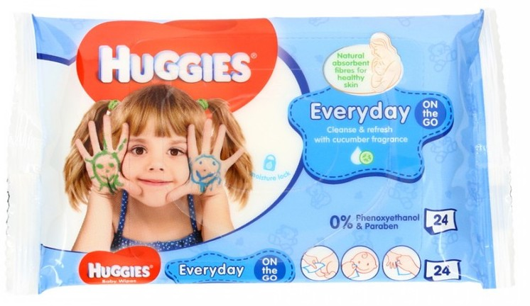 Huggies Everyday Wipes with Cucumber Fragrance, 24 ct