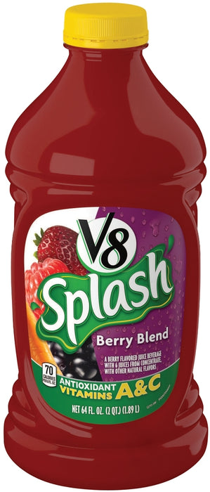 Campbell's V8 Splash, Berry Blend, 64 oz