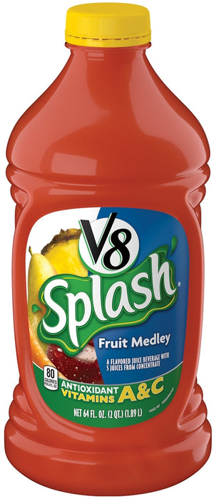 Campbell's V8 Splash, Fruit Medly, 64 oz