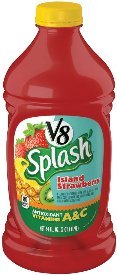 Campbell's V8 Splash Island Strawberry, 64 oz