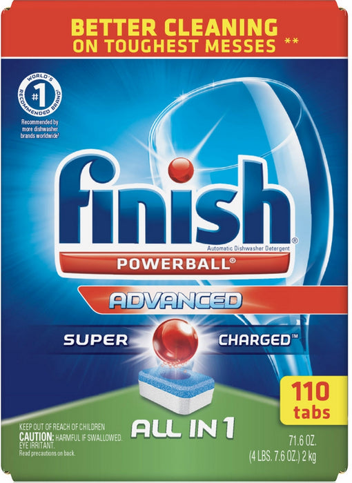 Calgonit Finish PowerBall Advanced All-in-1 Diswasher Detergent Tabs, 110 ct