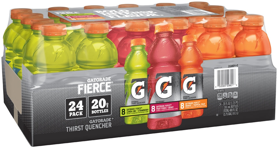 Gatorade X-Factor Fierce Thirst Quencher Variety Pack, 24 x 20 oz