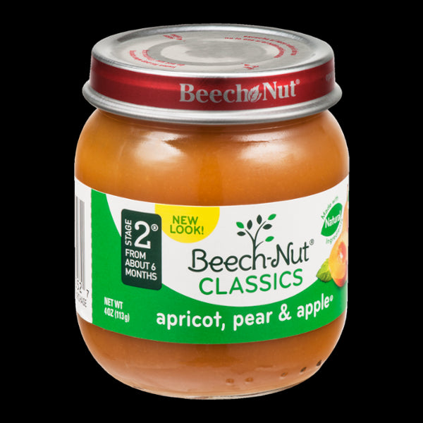 Beech-Nut Natural Baby Food Stage 2, Apricot, Pear & Apple, 4 oz
