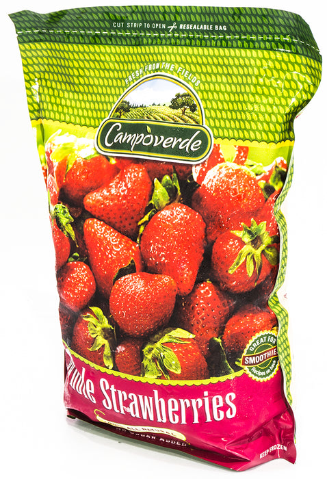 Campoverde Whole Strawberry, 100% Natural, No Sugar Added, 5 lbs