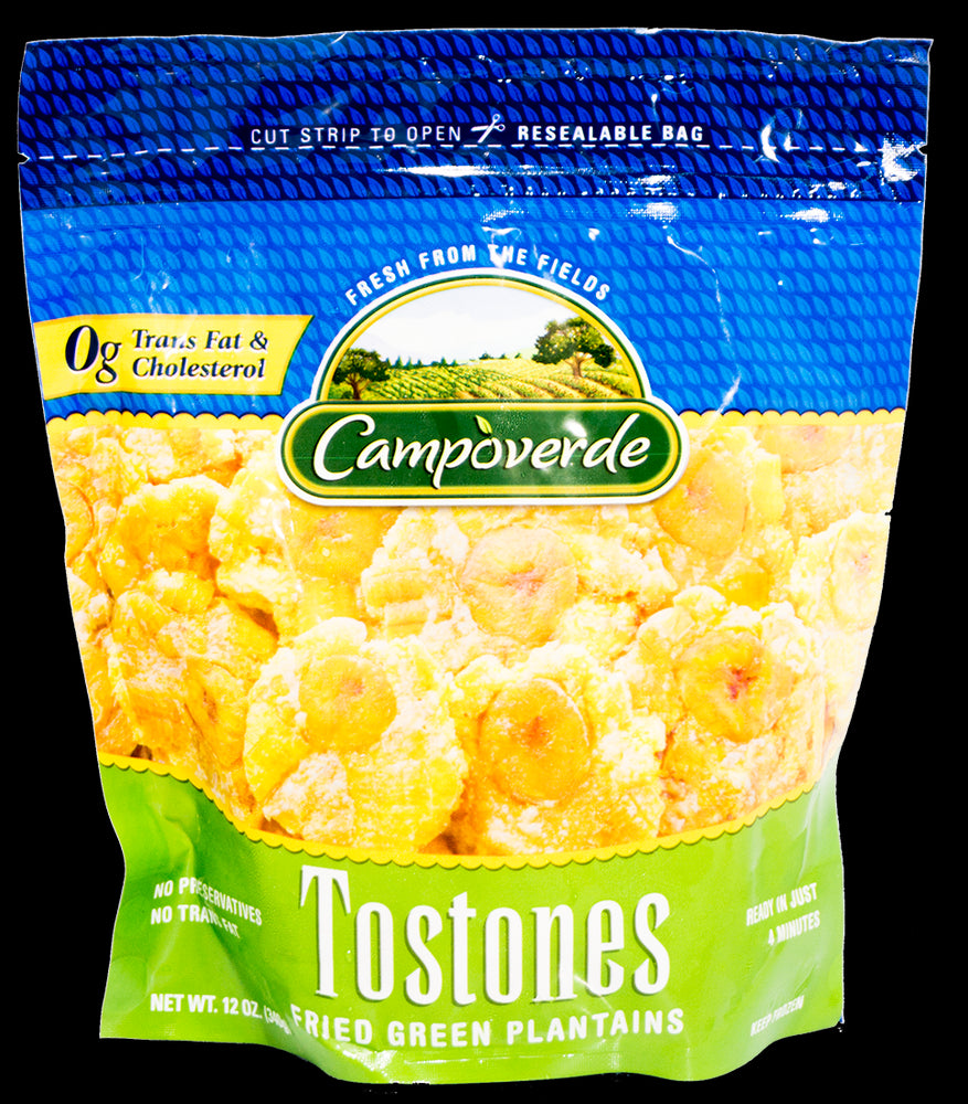 Campoverde Tostones Fried Green Plantains, 100% Natural, No Sugar Added, 12 oz