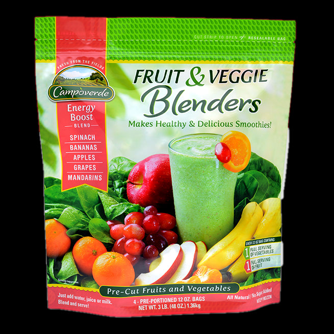 Campoverde Fruit & Veggie Blenders, Energy Boost, All Natural, No Sugar, 3 lbs