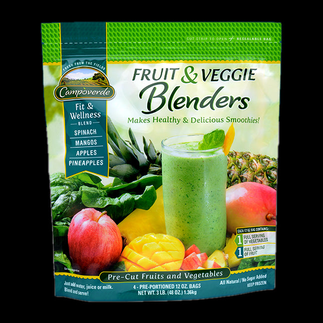Campoverde Fruit & Veggie Blenders, Fit & Wellness, All Natural, No Sugar, 3 lbs