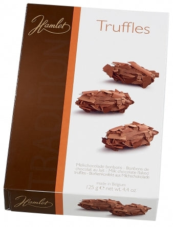 Hamlet Belgian Chocolate Flaked Truffles, Milk Chocolate, 125 gr