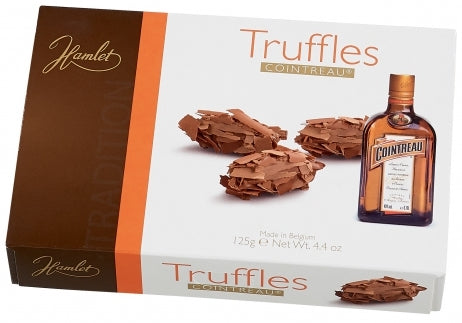 Hamlet Liqueur Flaked Truffles, Milk Chocolate with Cointreau, 125 gr
