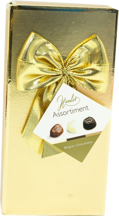 Hamlet Assorted Belgian Chocolates Gift Box, Gold, 125 gr