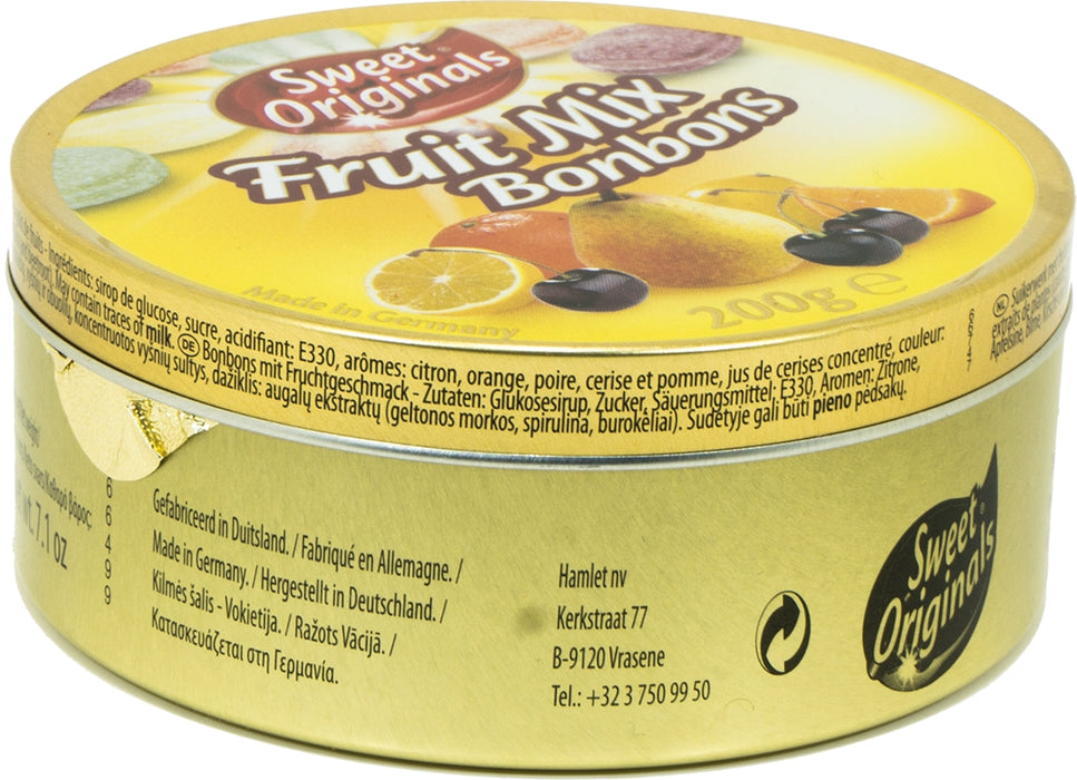 Sweet Originals Fruit Mix Bonbons Tin, 250 gr