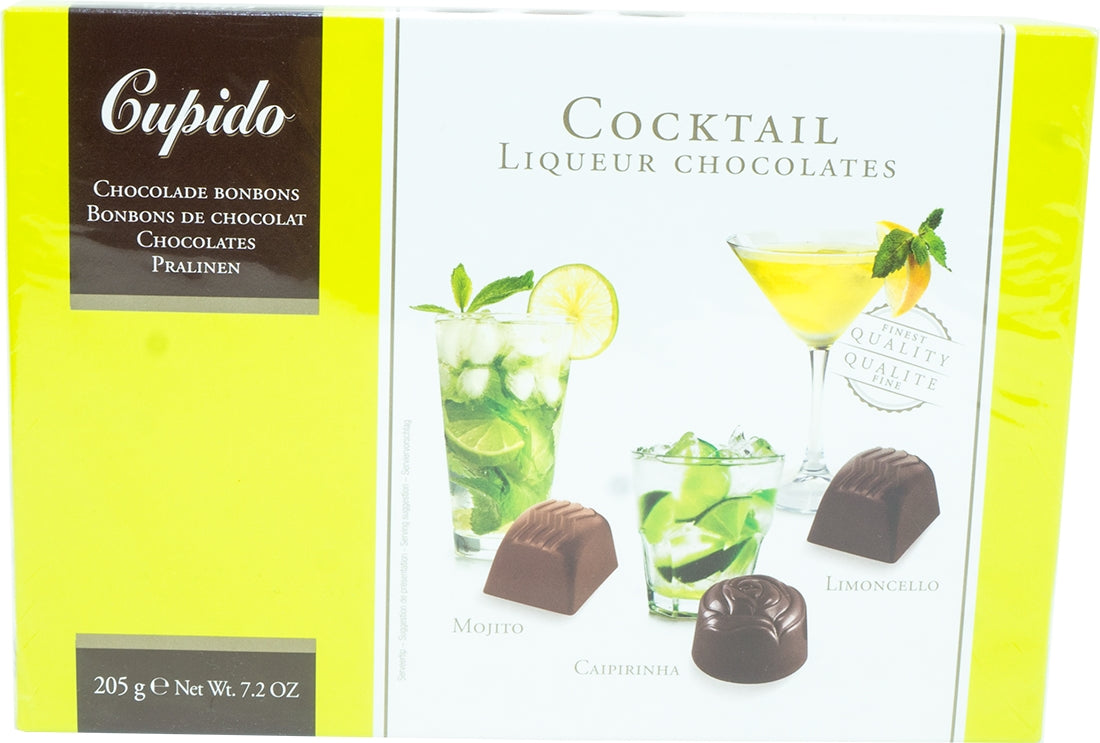 Hamlet Cupido Assorted Cocktail Liqueur Chocolates, Mojito, Caipirinha & Limoncello, 205 gr