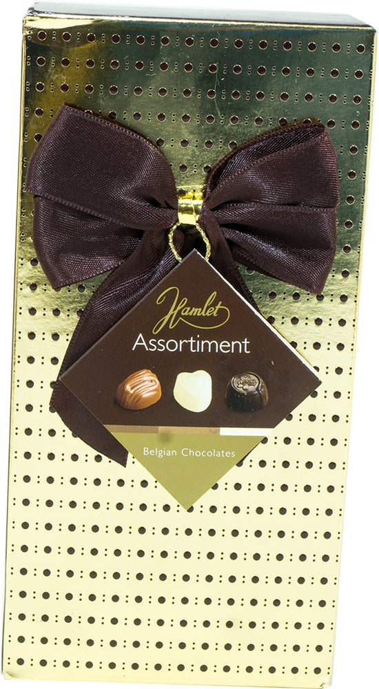 Hamlet Assorted Belgian Chocolates Gift Box, Gold & Brown, 125 gr