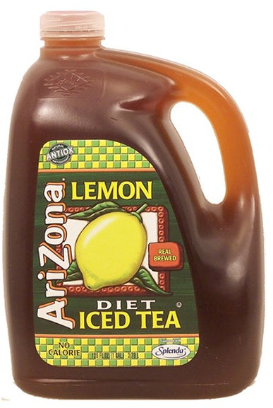 AriZona Lemon Diet Iced Tea, No Calories, 1 gal
