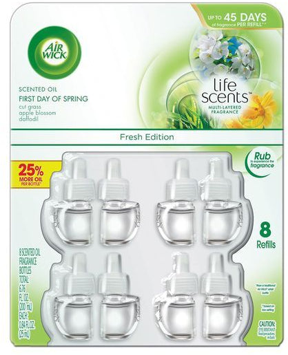 Air Wick Scented Oil Refills, First Day of Spring Fragrance, 8 ct