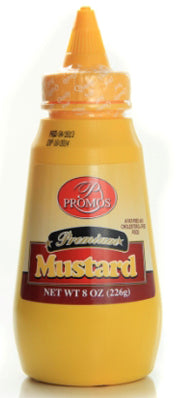 Promos Mustard Squeeze Bottle, 8 oz