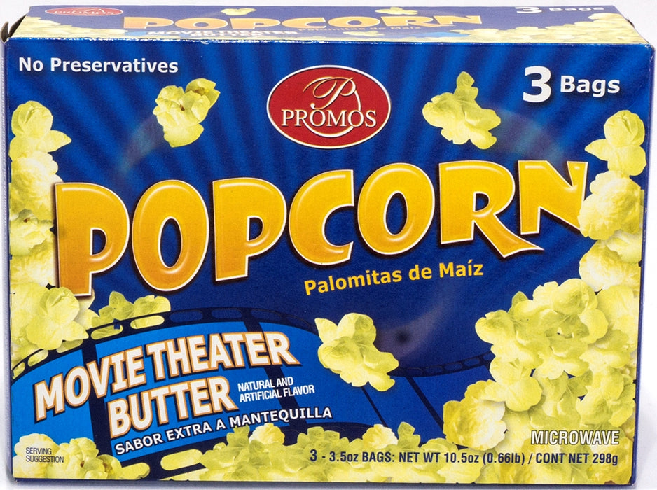 Promos, Microwave Popcorn Butter, 3 pk
