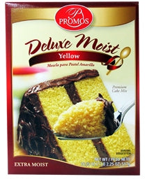 Promos Deluxe Moist Cake Mix, Yellow, 18.25 oz