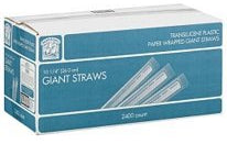 Bakers & Chefs Giant Straws, 2400 ct