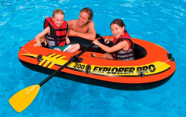 Intex Inflatable Pro 200 Boat Set, 196 x 102 x 33 cm