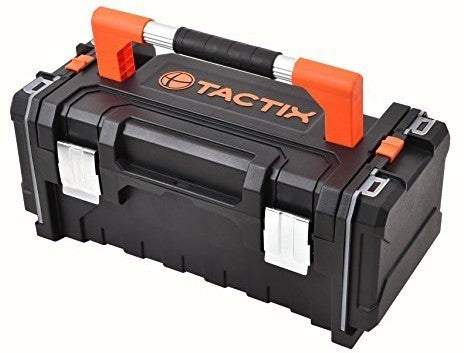 Tactix Tool Box with Organizers, 53.4 x 22.6 x 28.3 cm