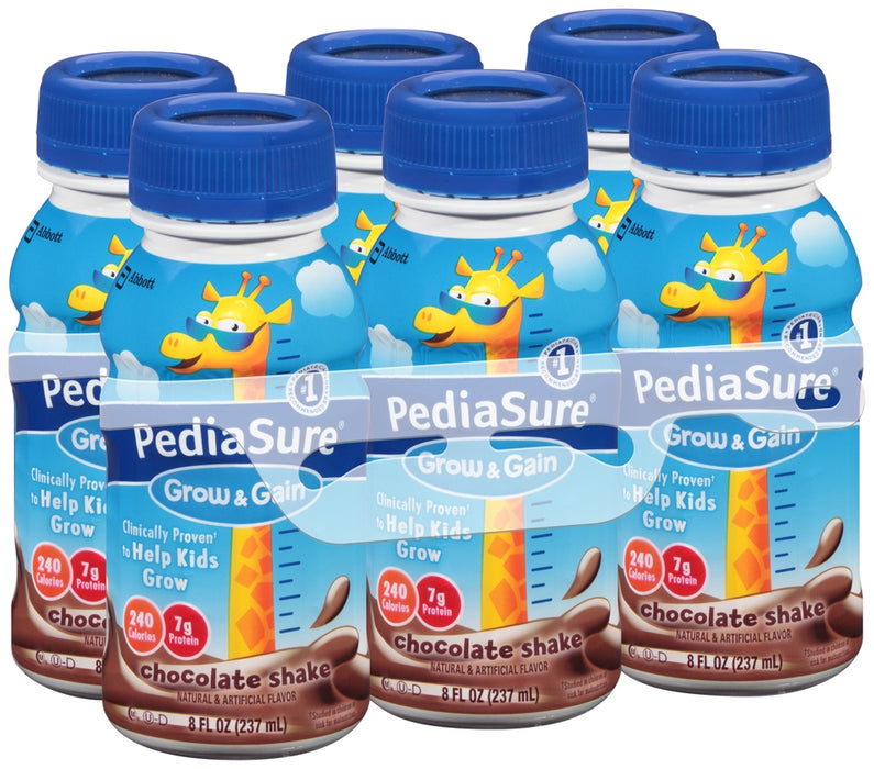 Abbott PediaSure Grow & Gain Value Pack, Chocolate Shake, 6 x 8 oz