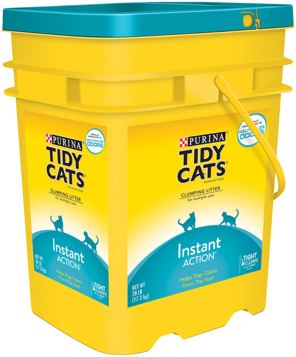 Purina Tidy Cats Clumping Litter, Neutralize Odors, Instant Action, 38 lb