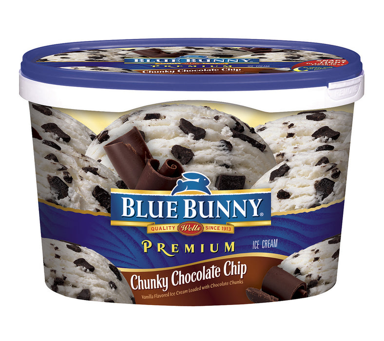 Blue Bunny Chocolate Chips Ice Cream, 48 oz