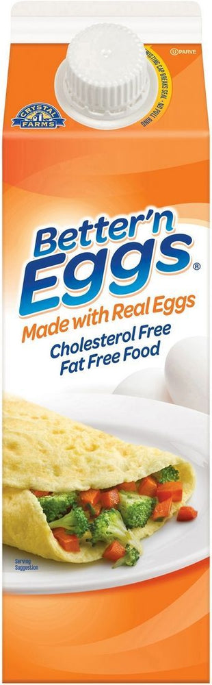 Crystal Farms Better 'n Eggs, Made with Real Eggs, Cholesterol Free and Fat Free, 32 oz