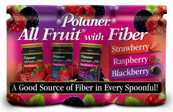 Polaner All Fruit with Fiber Jelly Variety Pack, 3 x 15.25 oz