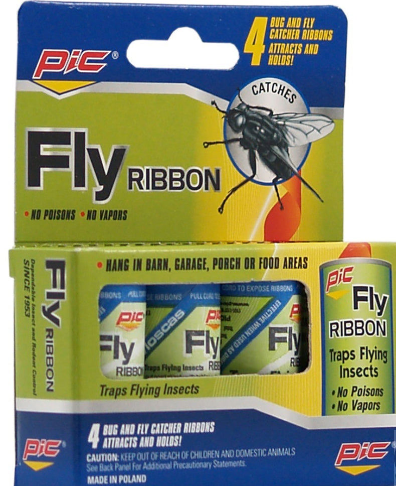 Pic Fly Ribbon Flying Insects Traps, 4 ct